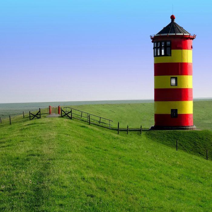 Leuchtturm in Pilsum an der Nordsee